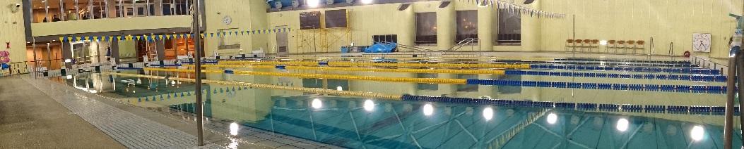 ここで水泳の練習しています